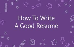 Write a Winning Resume - Job Tips - Resources 50 Workers